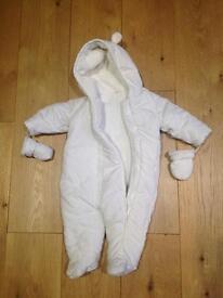 BHS Snowsuit 0-3 months