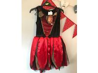 Girls 11-12 Devil Witch Brand New Halloween Costume.
