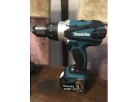 Makita 18v 2 Speed Combi Drill with Metal Chuck and 1 FREE Geniune 18v Makita 5.0ah Battery