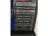 PlayStation 1, 11 PlayStation games and a dance mat