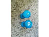 Two 2kg weights