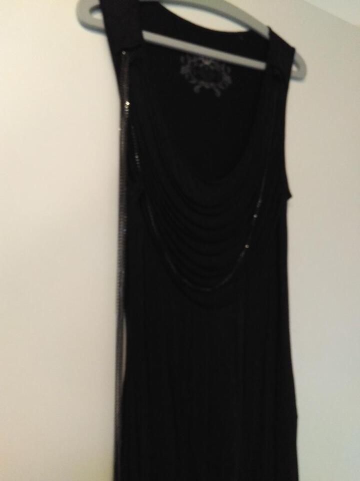 EDC by Esprit raffiniertes Midi Kleid Kettenkleid schwarz S