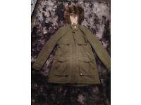 Ladies khaki Parker coat size 12