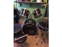 Premier Olympic Drum kit in black