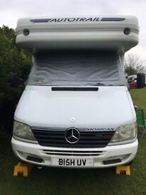 MOTORHOME Mercedes Autotrail. Stunning example VGC Low mileage MOT Til Mar 18 ready to go anywhere!
