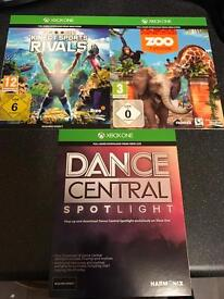 Xbox one games - Dance central spotlight, Kinect sports rivals and zoo tycoon