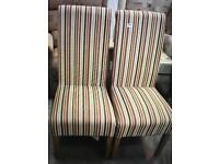 Fabric Dining Chairs - 2 Set