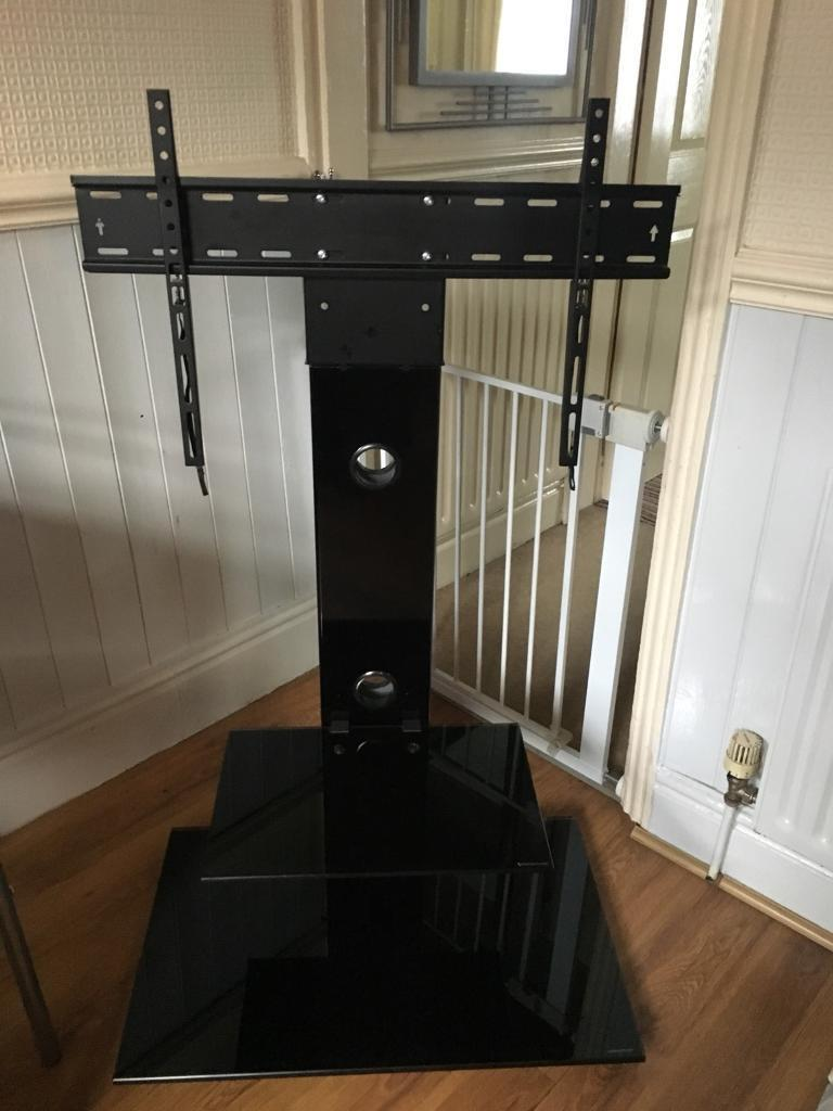 Black Glass TV Stand NOW SOLD