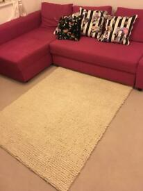 100% wool M&S knotted look rug