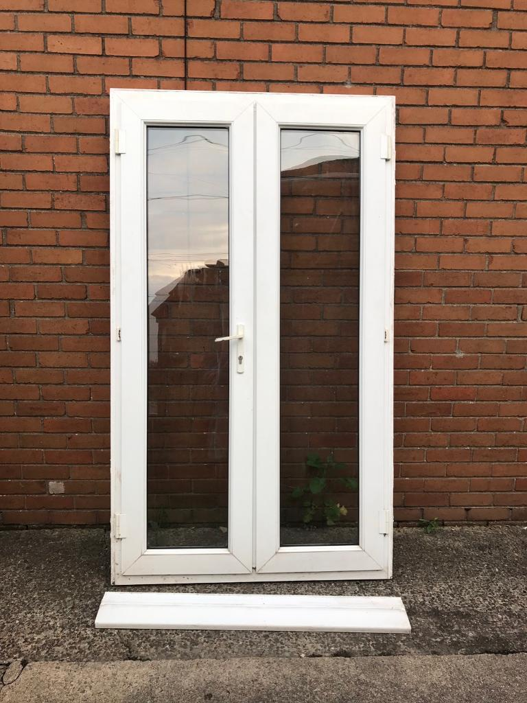 2 Sets Of White Used Upvc French Doors In Newport Gumtree
