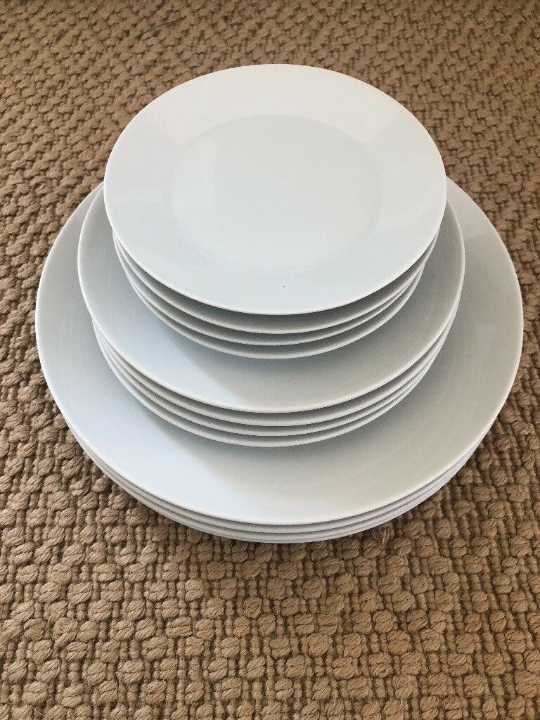 12 x New White IKEA 365 Range Dinner Dining Plate Set of 12 | in ...