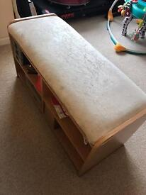 Wood coffee table / foot stool / shoe storage / ottoman