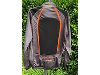 Funkier Orange and Grey Long Sleeve Cycling Jersey