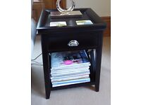 Side Table - solid wood, black - very good condition, two available