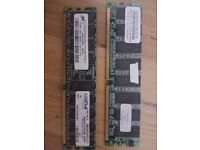 Ddr1 and ddr2 desktop ram memory