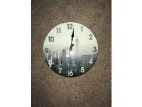 Glass New York clock