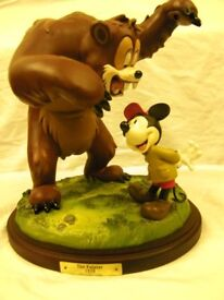 Disney Figurine Mickey Mouse and Bear