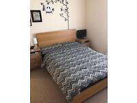 Nearly New - Solid Oak Double Bed from Next RRP £600