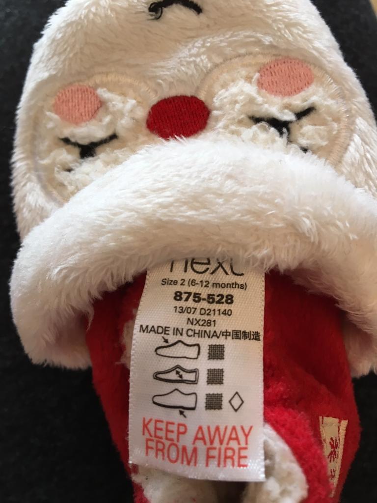 Christmas baby slippers/pram shoes
