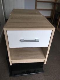 Modern bedside cabinet x2