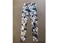Floral Patterned Leggings (Size 10)