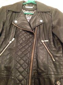 Ladies Black Faux Leather Jacket