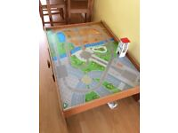 ELC Wooden Train/Car Table with track and parts