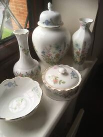 Aynsley China - Wild Tudor and Cottage Garden, good condition, willing to sell individually or bulk