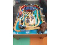 Childrens play table with train set