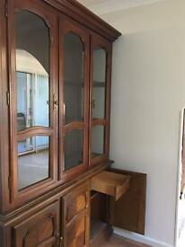 Large Wooden Display Cabinet - Excellent Con Whisky