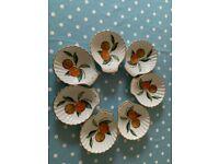 Royal Worcester Evesham Porcelain Scallop shell set