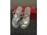 Silver sandals size 7