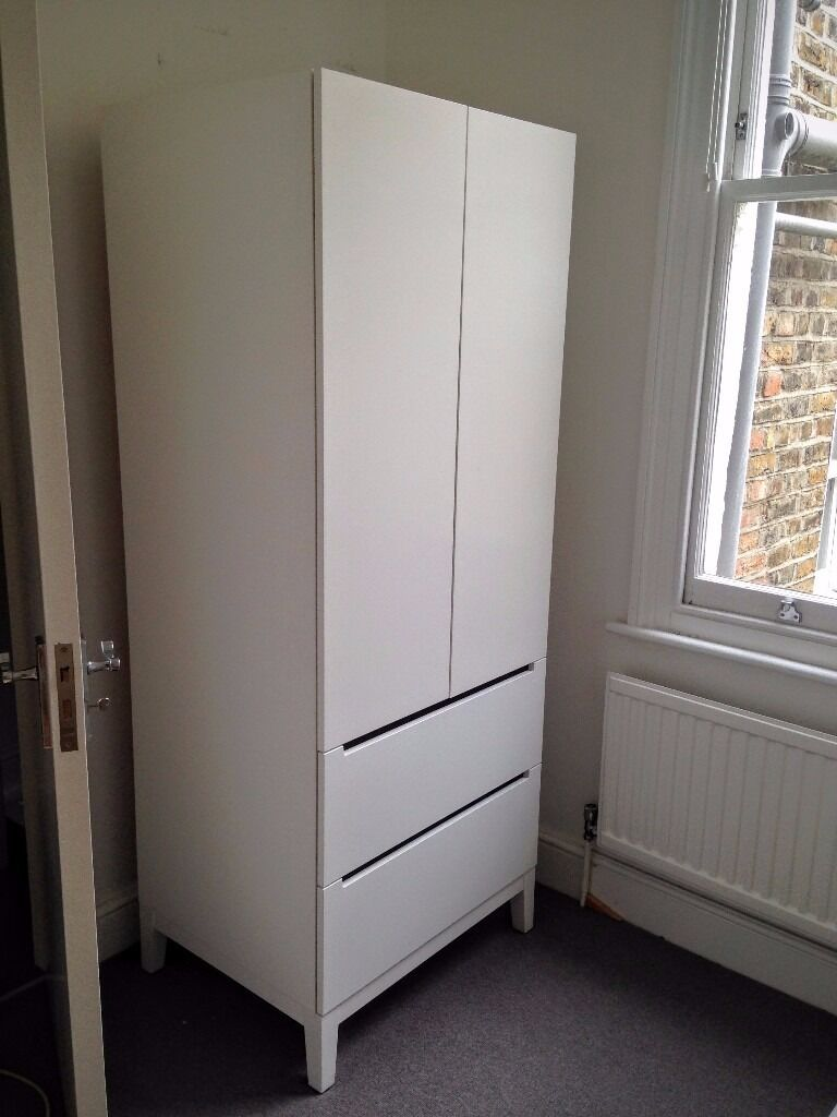 ikea nordli wardrobe white excellent condition 100 in lambeth london gumtree. Black Bedroom Furniture Sets. Home Design Ideas