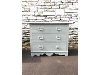 Beautiful Vintage Chest of Drawers Sprayed in Mint green