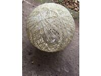 Cream Wicker Lampshade