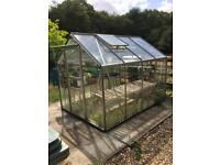 Greenhouse Aluminium and Glass 8 x 6 With 4 Benches And Lots Of Pots