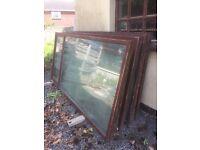 Brown UPVC Windows