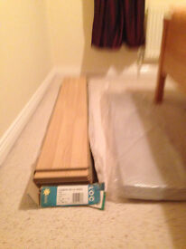 Pack of Beech Effect floor boards and some underlay