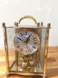 Vintage Acctim rotating pendulum mantel clock