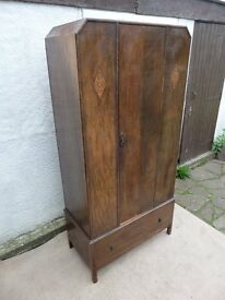 Vintage Hall Cupboard / Wardrobe (local delivery possible)