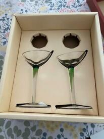 Kilkenny casual dining, Green splash candle holders