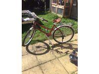 Ladies Pashley Provence Red Bike leather brookes Saddle