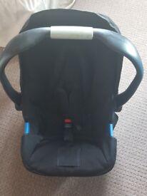 Boys push chair from birth