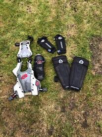Sixsixone and evs pads and body armour
