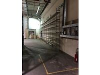Cheap industrial shelving 200 bays £2000 only