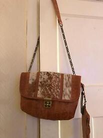 ETUI leather and fur bag