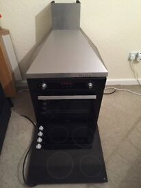 Electric oven and hob and extractor