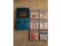 Blue Gameboy Color Nintendo and games
