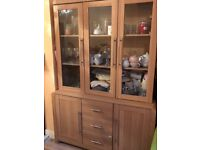 Dresser and Display cabinet both with lights