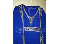 Asian embroidery dress with overcoat